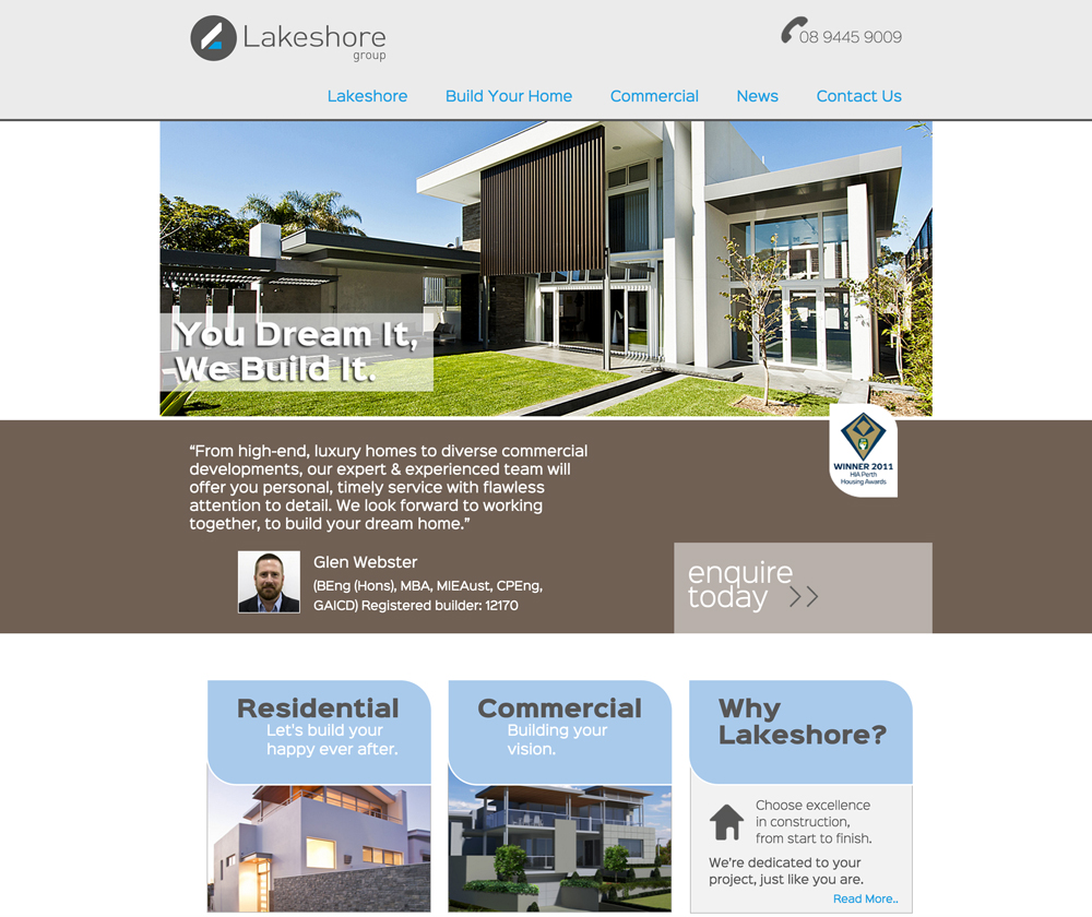 Lakeshore Group Website Design